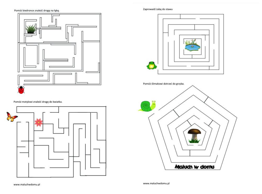 Labirynty dla dzieci: na łące