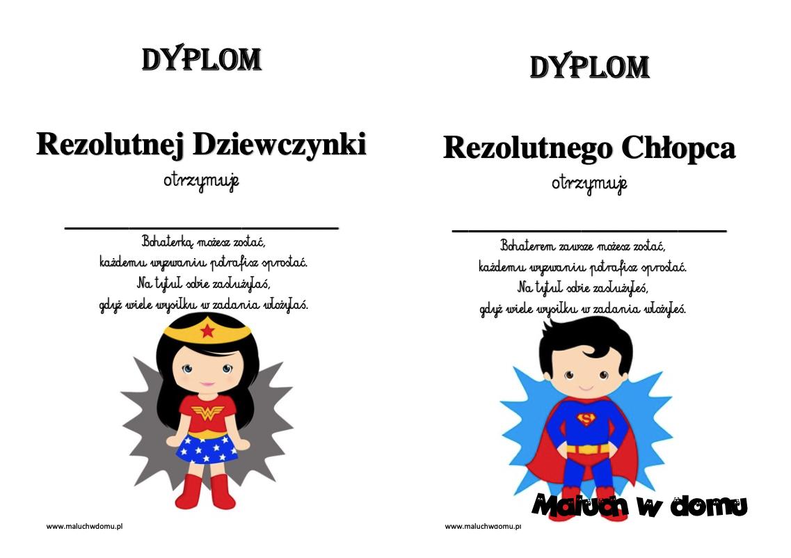 Dyplomy rezolutnego dziecka