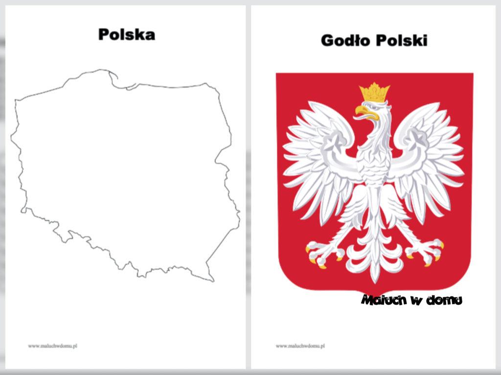Symbole narodowe do druku